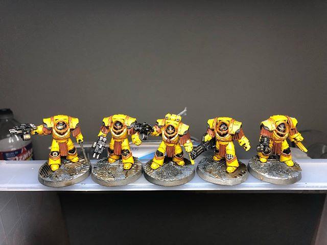 3rd squad of cataphractii terminators.