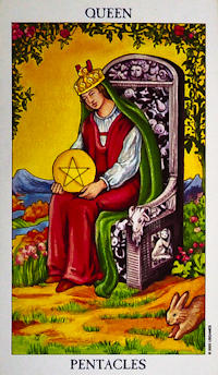 The Queen of Pentacles/Coins