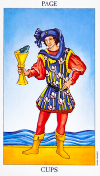 Page of Cups from the Ryder-Waite Radiant deck