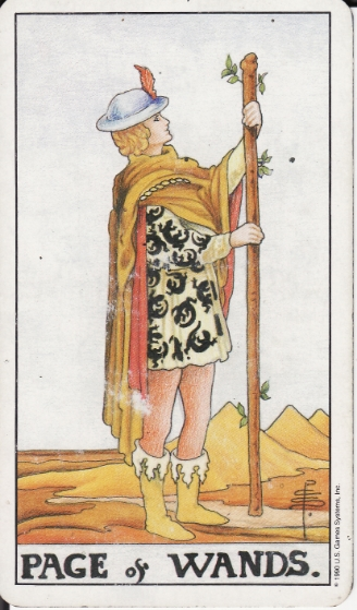 Page of Wands from the Ryder-Waite Deck