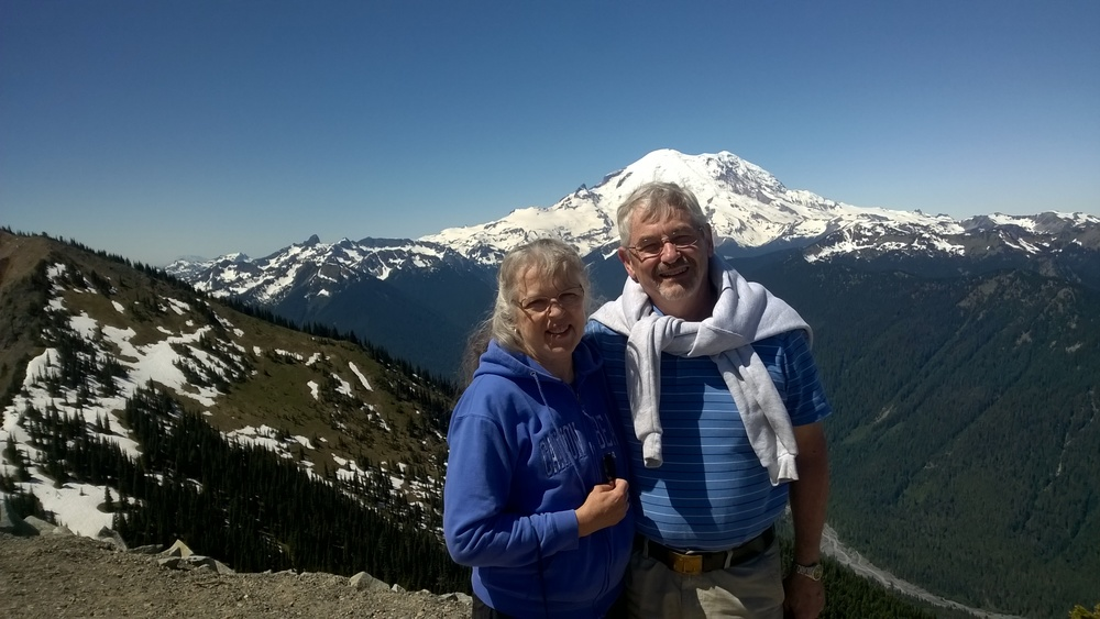 Anniversary hike and lunch at the top of Crystal Mountain.