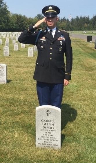 Sgt Eric Sakuma salutes his battle buddy again.