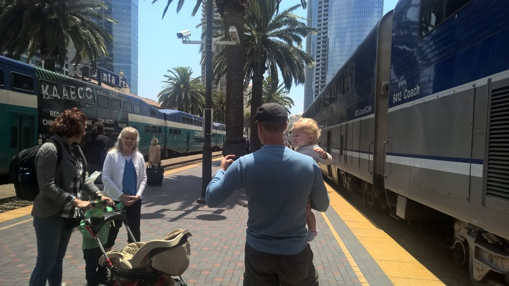 Arriving at San Deigo Union Station.