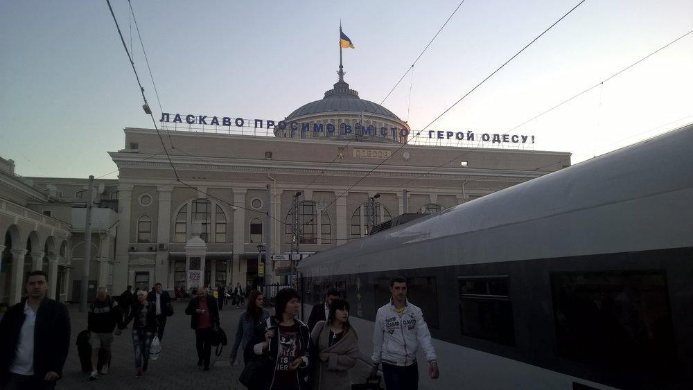 Odessa train station.