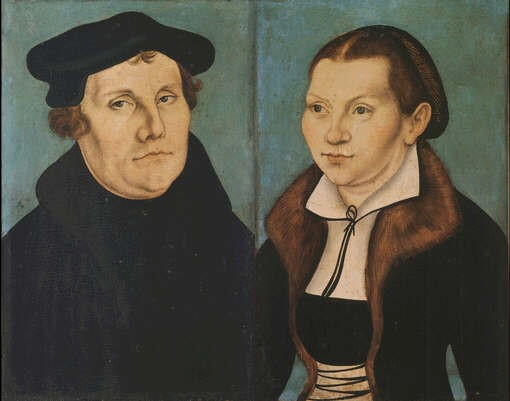 Martin Luther and his wife Katie von Bora