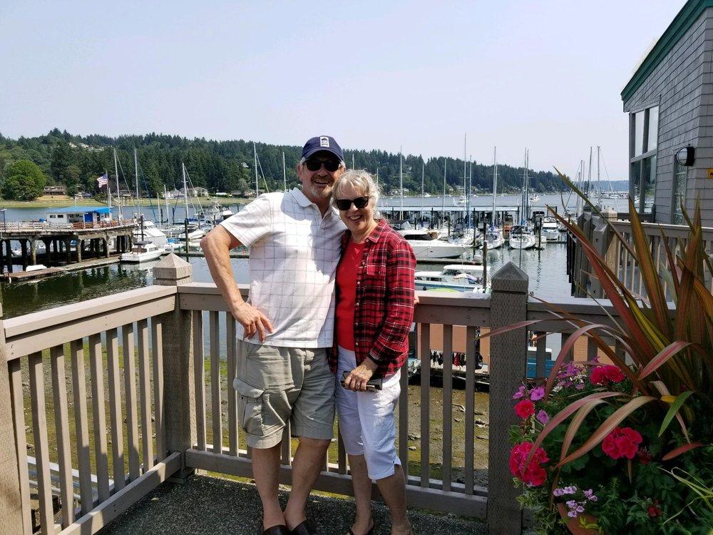 My honey and me downtown Gig Harbor, WA.
