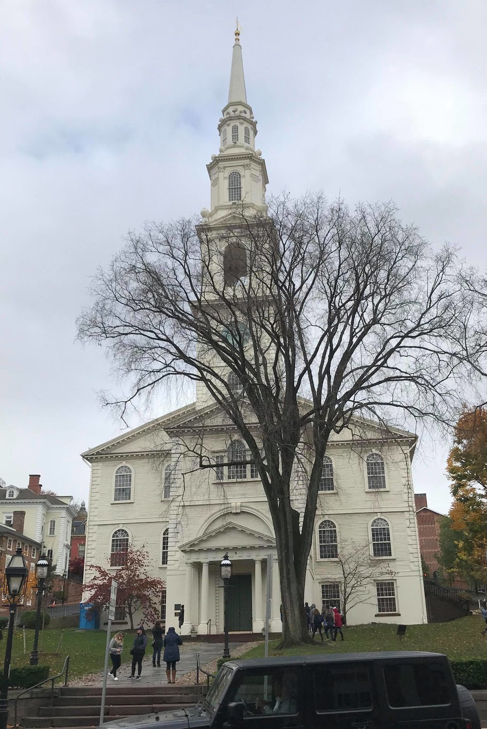 The first Baptist Church in America established in 1638 in Rhode Island by Roger Williams. Picture taken by my son Nehemiah a week ago while visiting there.