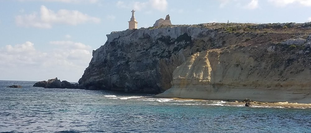 This beach on St. Paul's island that Paul's ship was thought to be wrecked on in Malta (Acts 27). A second possible site has been more recently discovered farther to the south on Malta where an ancient anchor was discovered.