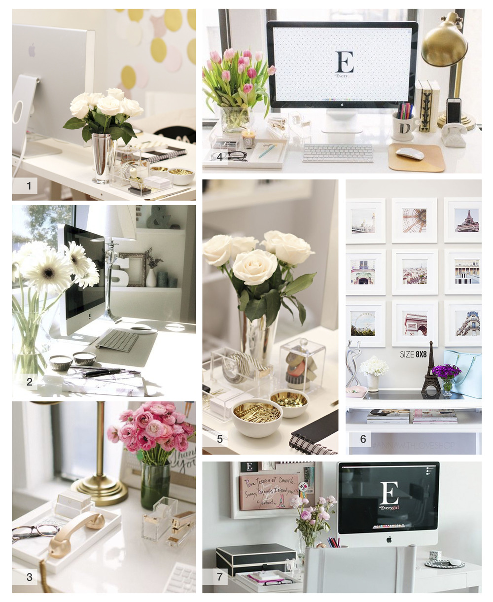 desk decor office co glam your or diy ideas cubicle pcok give