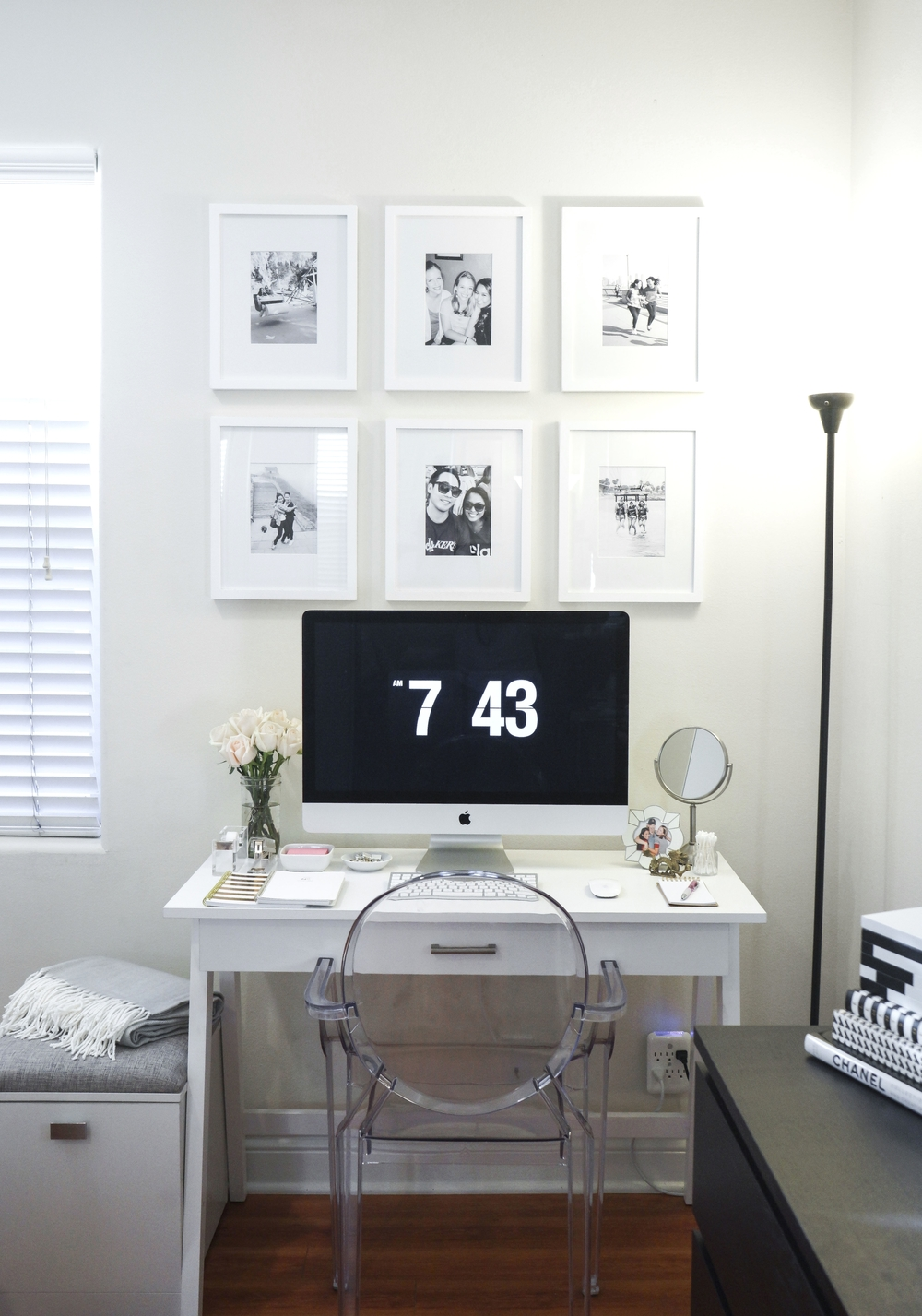 White gold desk decor shannon did what travel for Decor gold blog