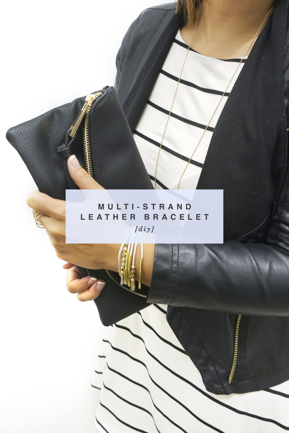 DIY Multi-Strand Leather Bracelet