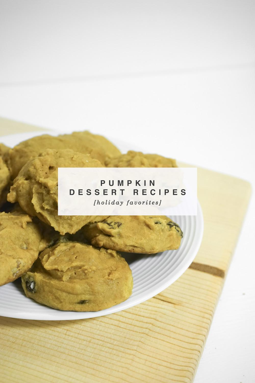 Favorite Pumpkin Dessert Recipes