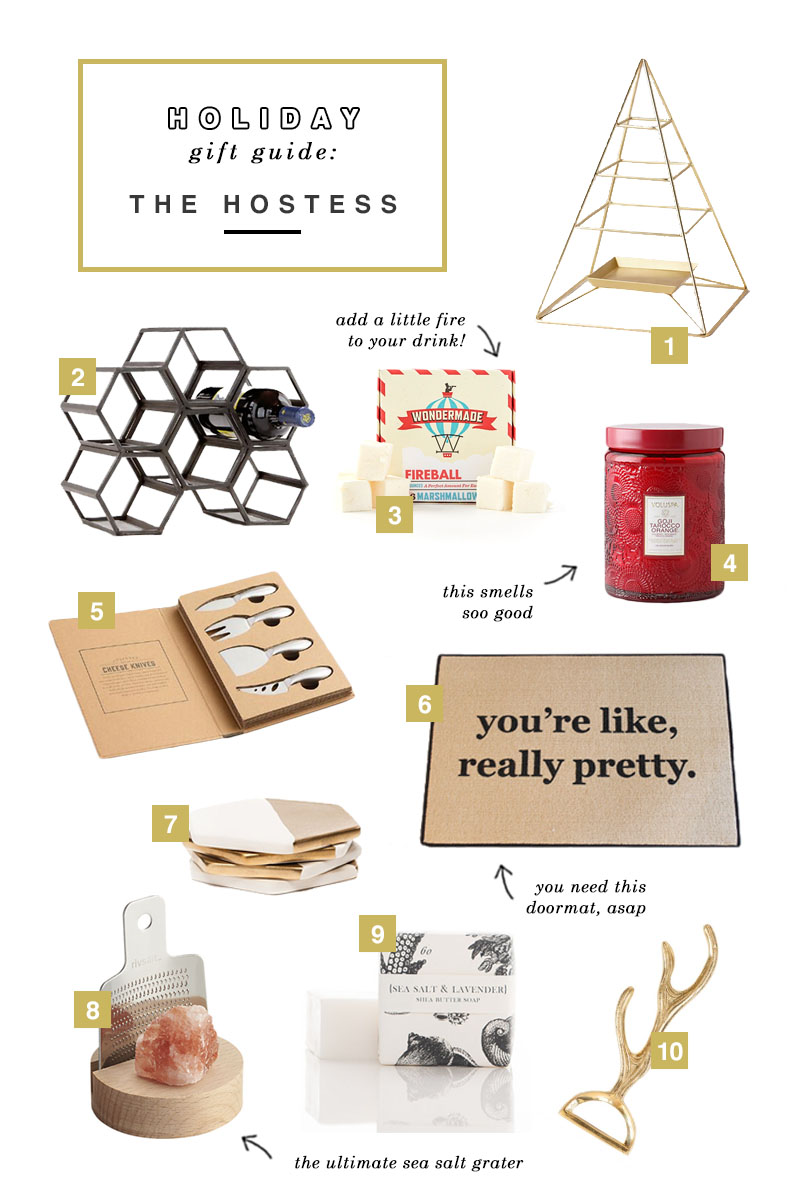 Holiday Gift Guide 2015 For the Hostess