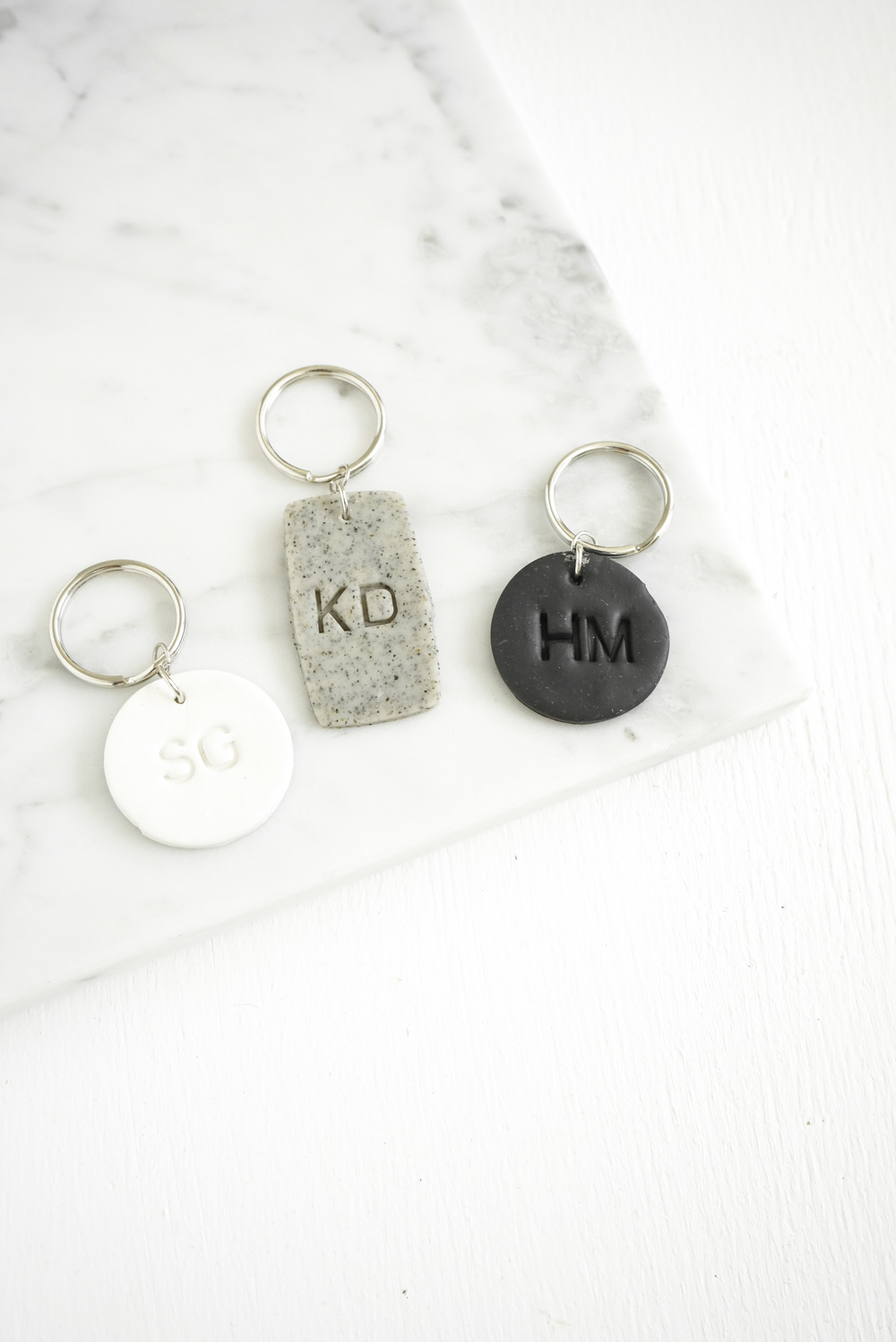 DIY Clay Keychains + Ring Dishes