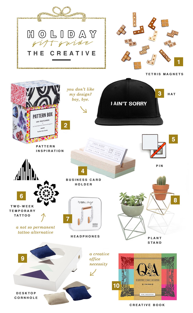 Holiday Gift Guide 2016 - The Creative