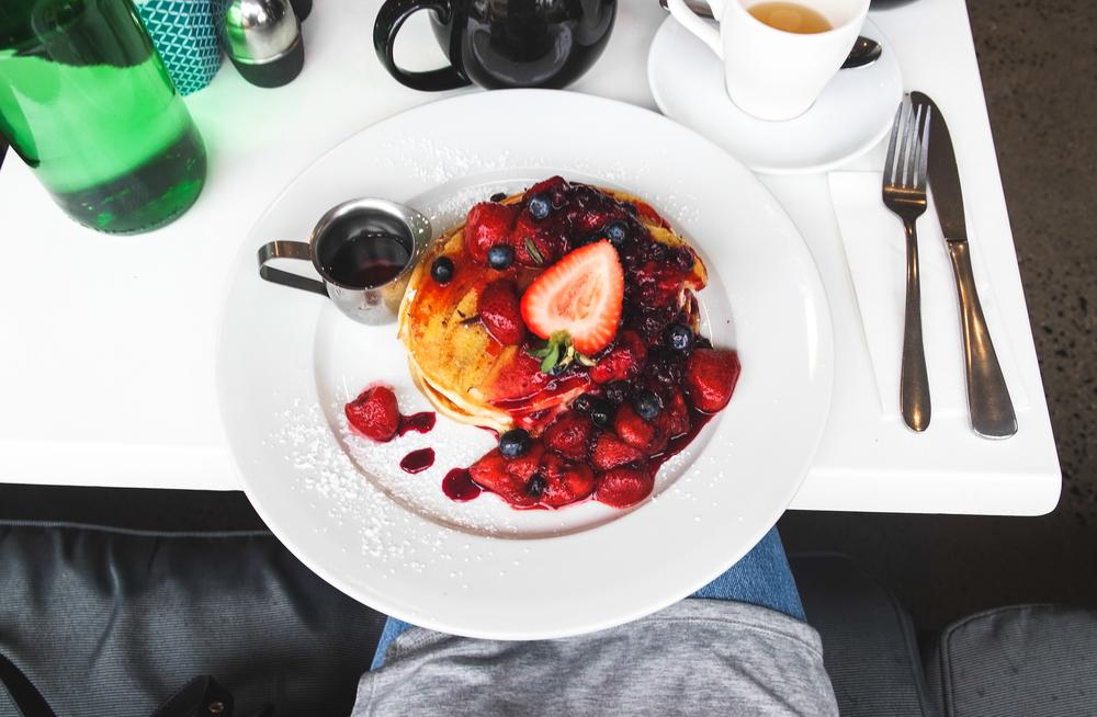 Indulgent pancakes at DIP in Byron