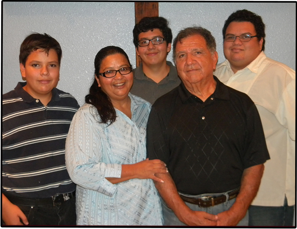 The Garcia Family (from left to right) Jeremiah, Maria, Elijah, Gilberto, and Matthew.