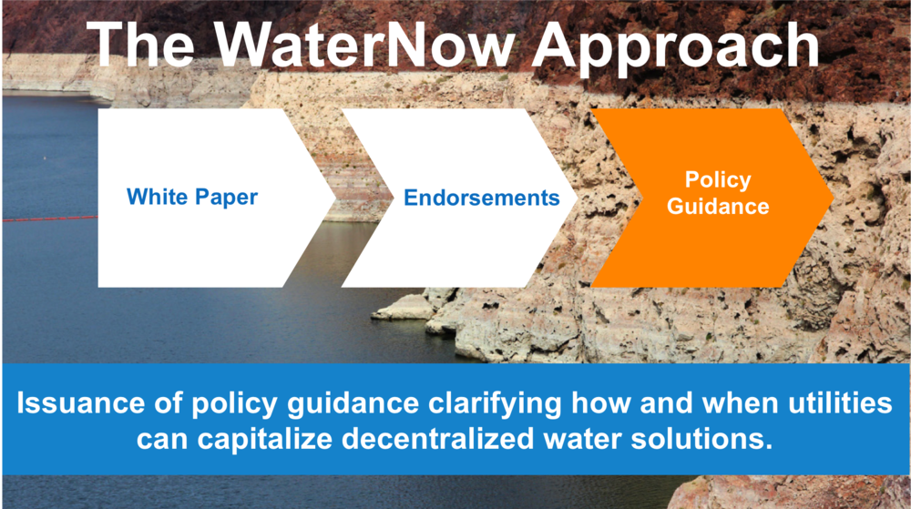 WaterNow Alliance's proposal to securing the necessary policy guidance