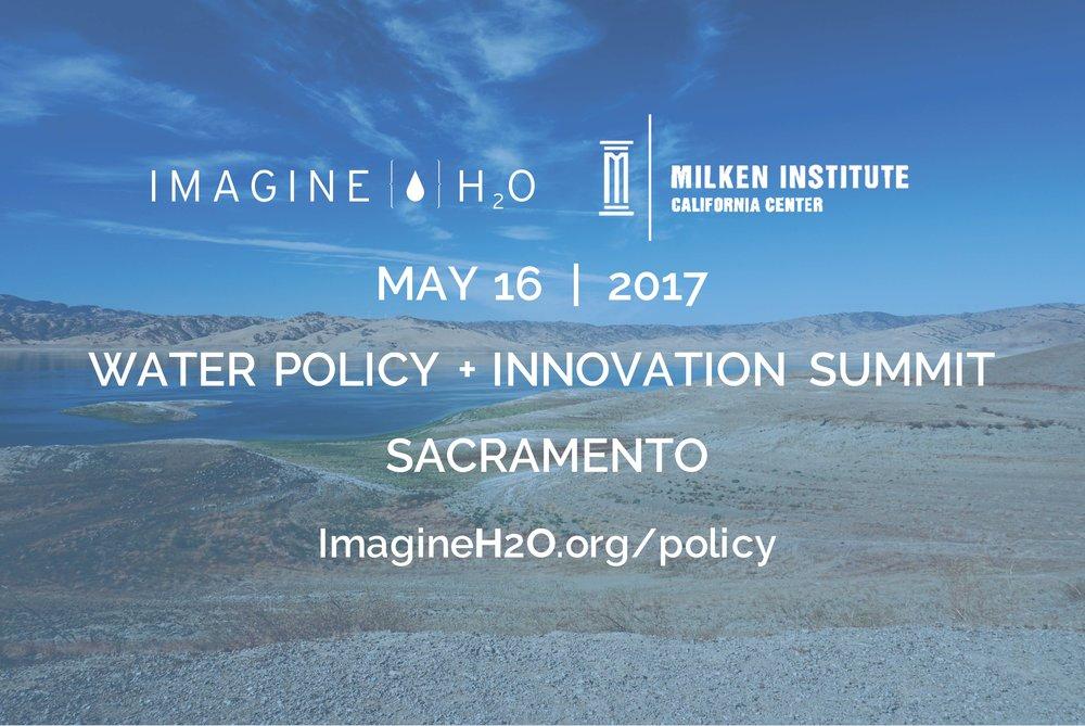 IH2O Water Policy Summit