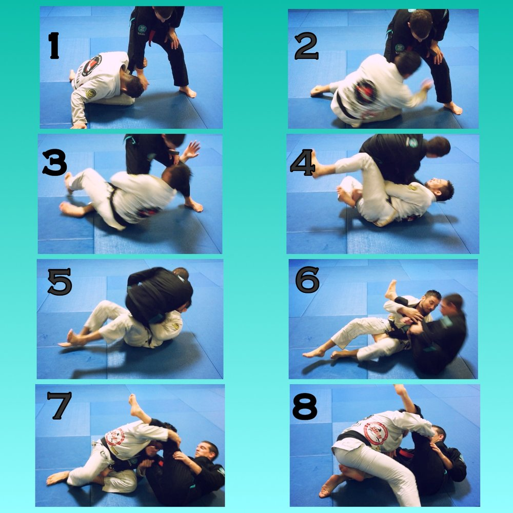 "Koala rolling side sweep.       Long Story Short..   Sit up when your guard is compromised. The options are endless. Never doubt the strength of ""The Koala"".    Need more info? always remember to tune in to TRUJITSU on Periscope."