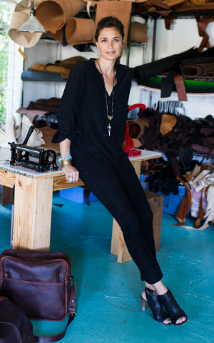 Cambria in her studio in Austin