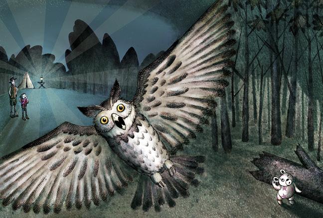 Bear Hears an owl