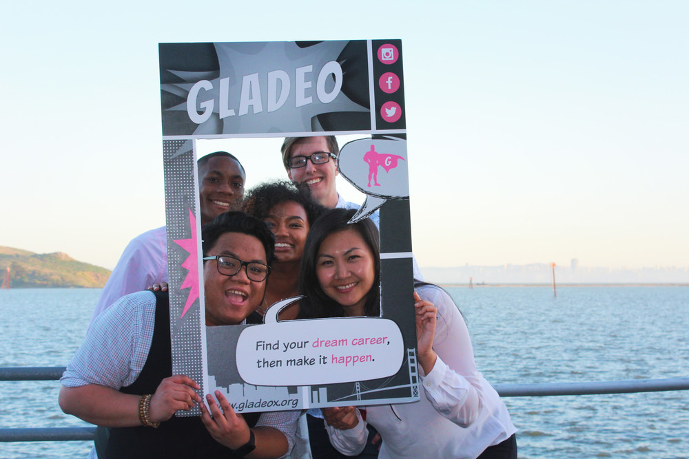 The Gladeo team posing outside of the Craneway Pavillion!