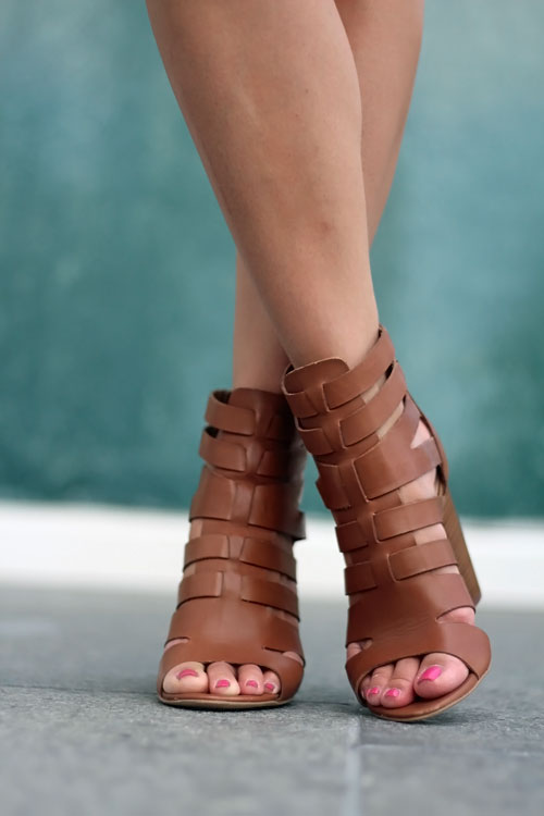 Summer Sandals, Strappy Lace Up Sandals