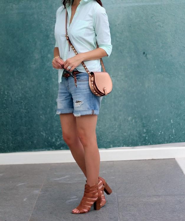How to Style Boyfriend Jean Shorts