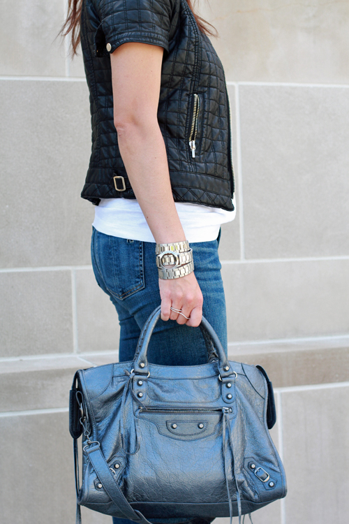 Rag and Bone Skinny Jeans, Balenciaga City Bag