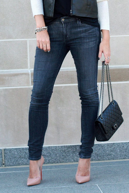 Citizens of Humanity Jeans, Chanel 2.55, Christian Louboutin So Kate Pumps