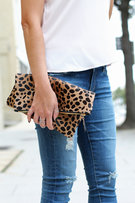 Clare Vivier Animal Print Clutch