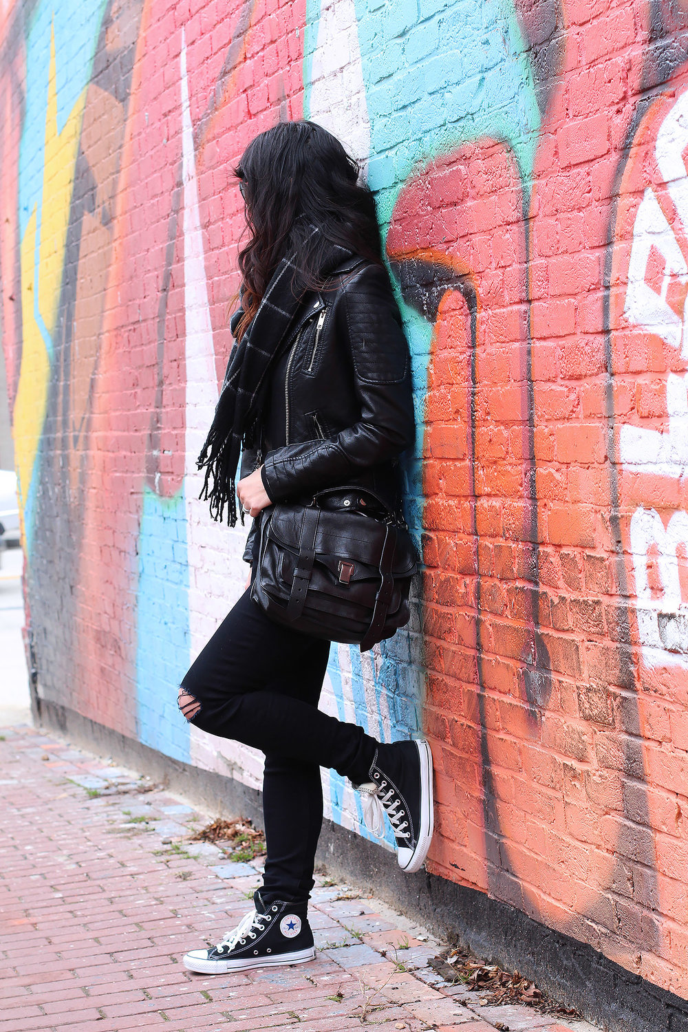 All black weekend outfit