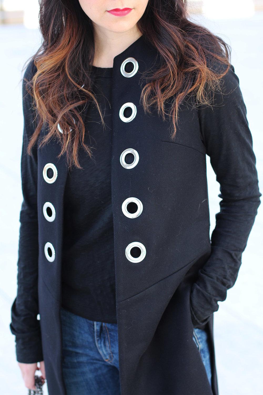 Eyelet Waistcoat, Long Duster Vest