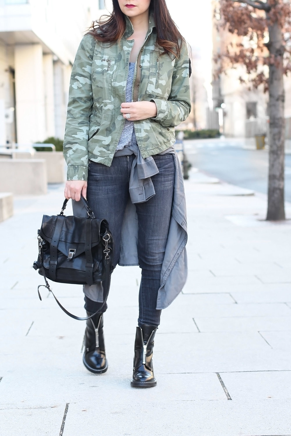 Military Boot Style, Camo Style Outfit