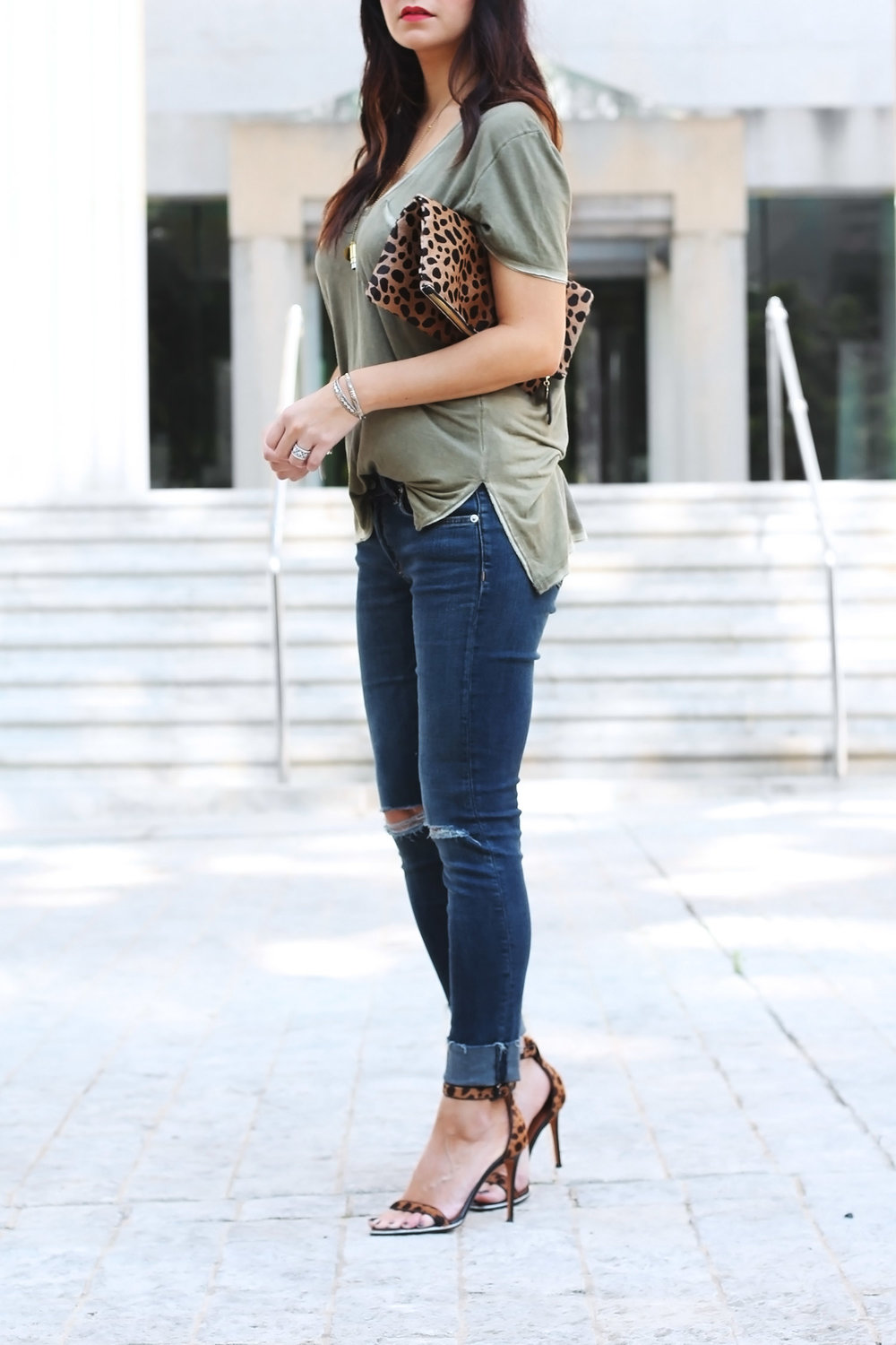 Jeans, T-Shirt, and Heels Style