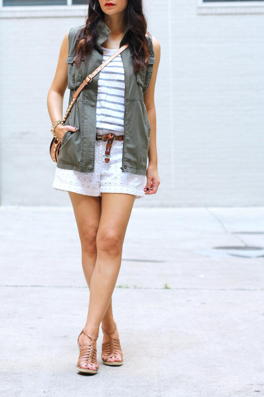 White Shorts Style Summer