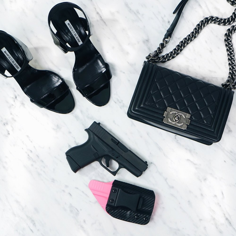 Chanel Boy Bag, Blacksmith Tactical IWB Holster, Manolo Blahnik