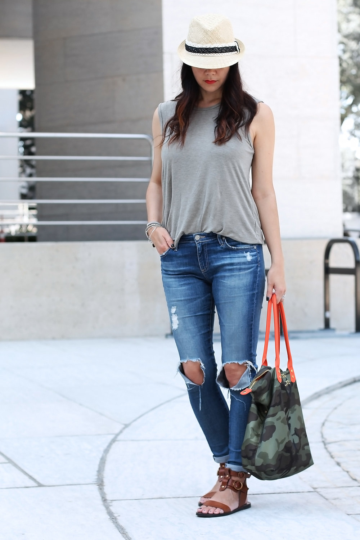 AG Jeans Distressed, Summer Weekend Look
