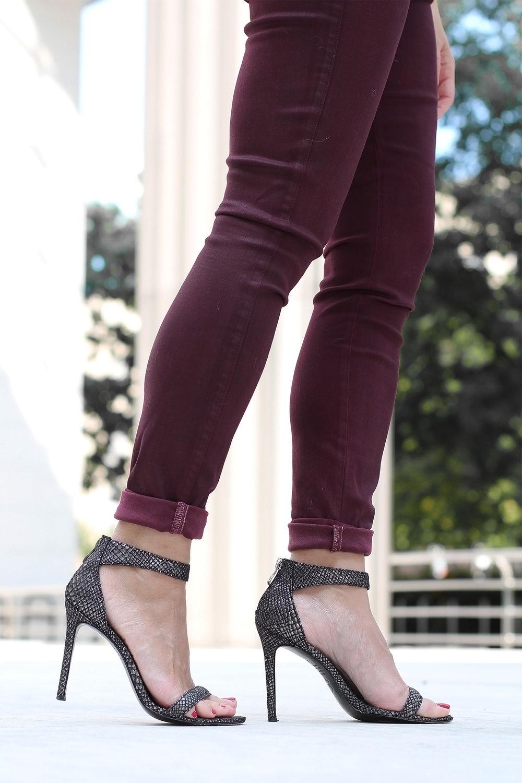 Nicholas Metallic Ankle Strap Sandals