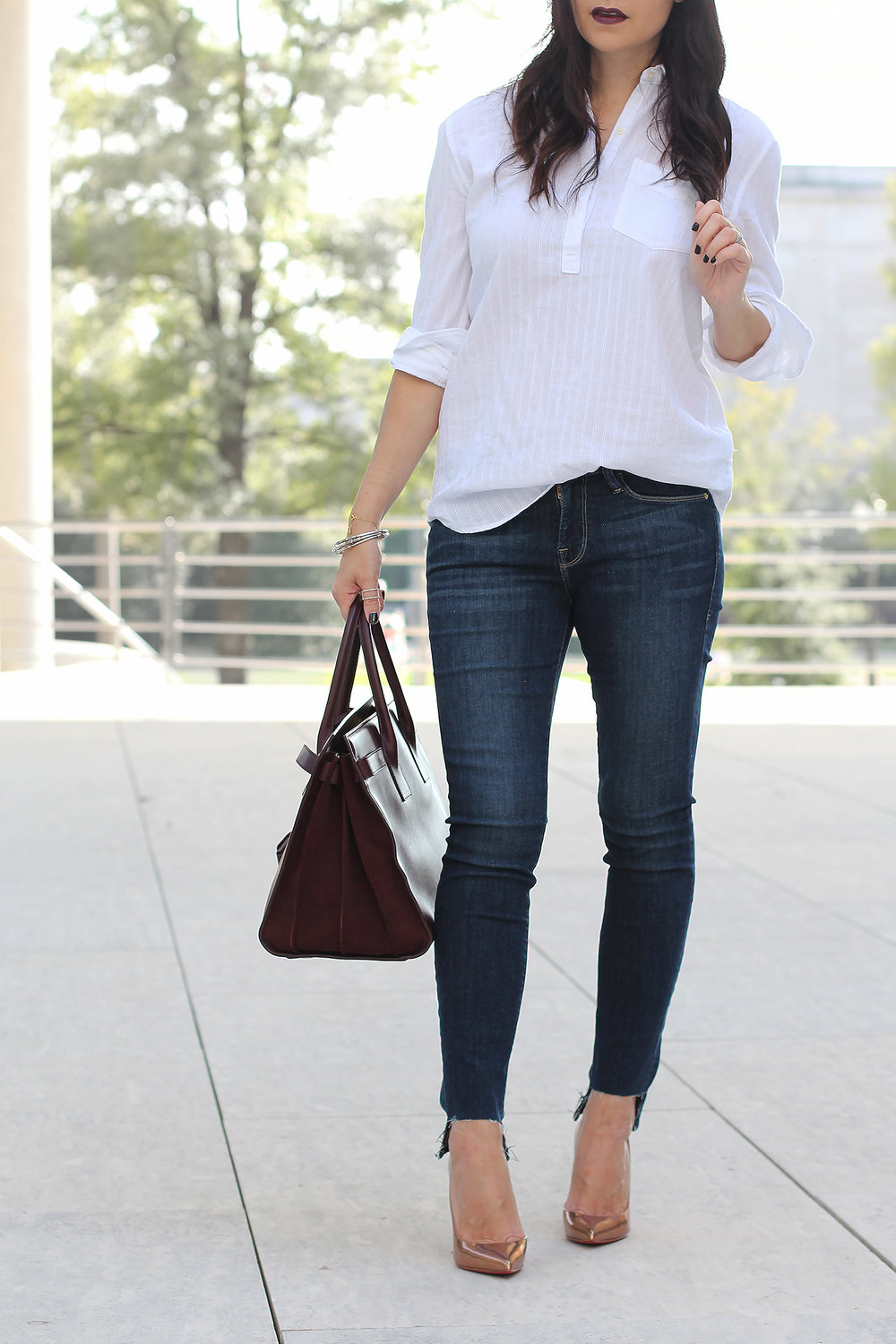 Classic White Button-Down Shirt Style