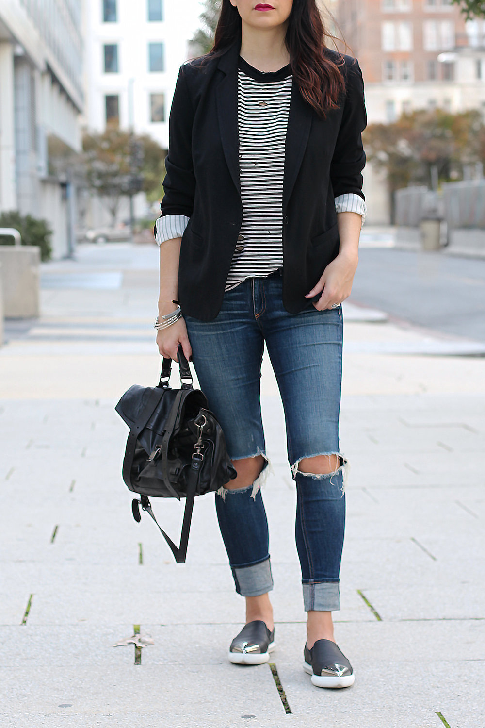 Styling a Boyfriend Blazer for the Weekend