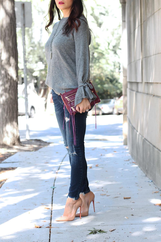 Halogen Bow Sleeve Sweater