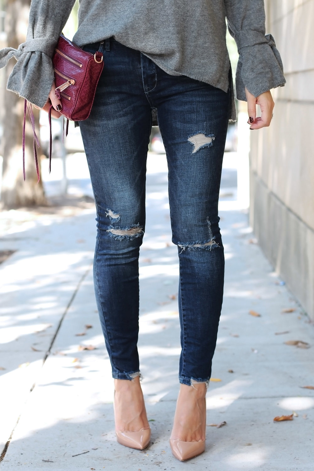 Distressed Jeans for Under $100, Nude High Heel Pumps
