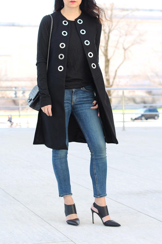 Eyelet Waistcoat, Skinny Jeans, Chanel 2.55