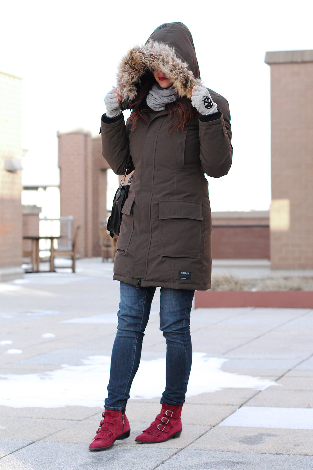 Olive Green Parka, Winter Outfit