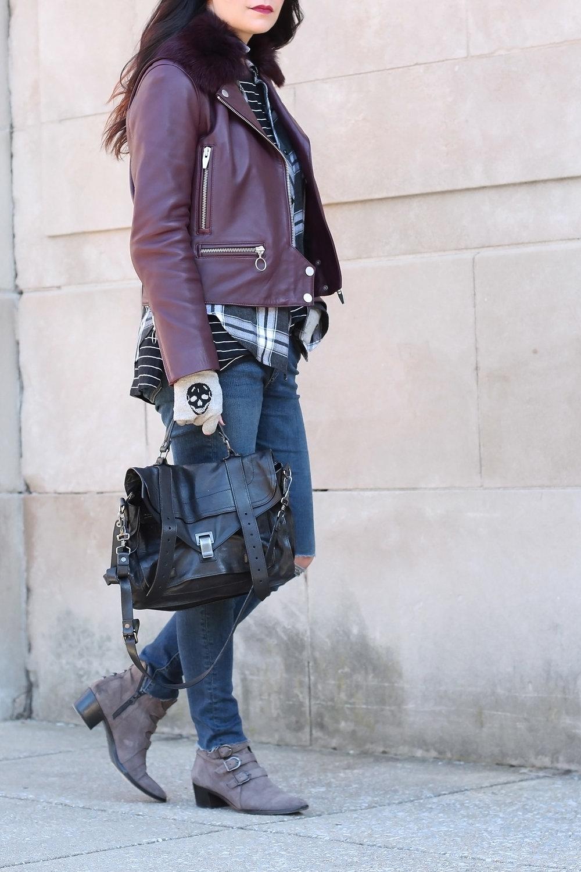Proenza Schouler PS1 Bag, Modern Vice Jett Boots, Skull Cashmere Gloves