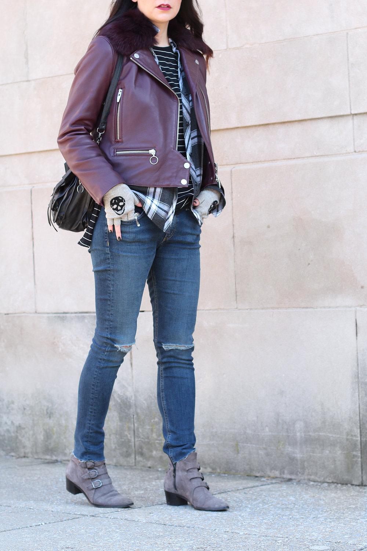 The Arrivals Faelke Zero Moto Jacket, Leather Jacket Outfit
