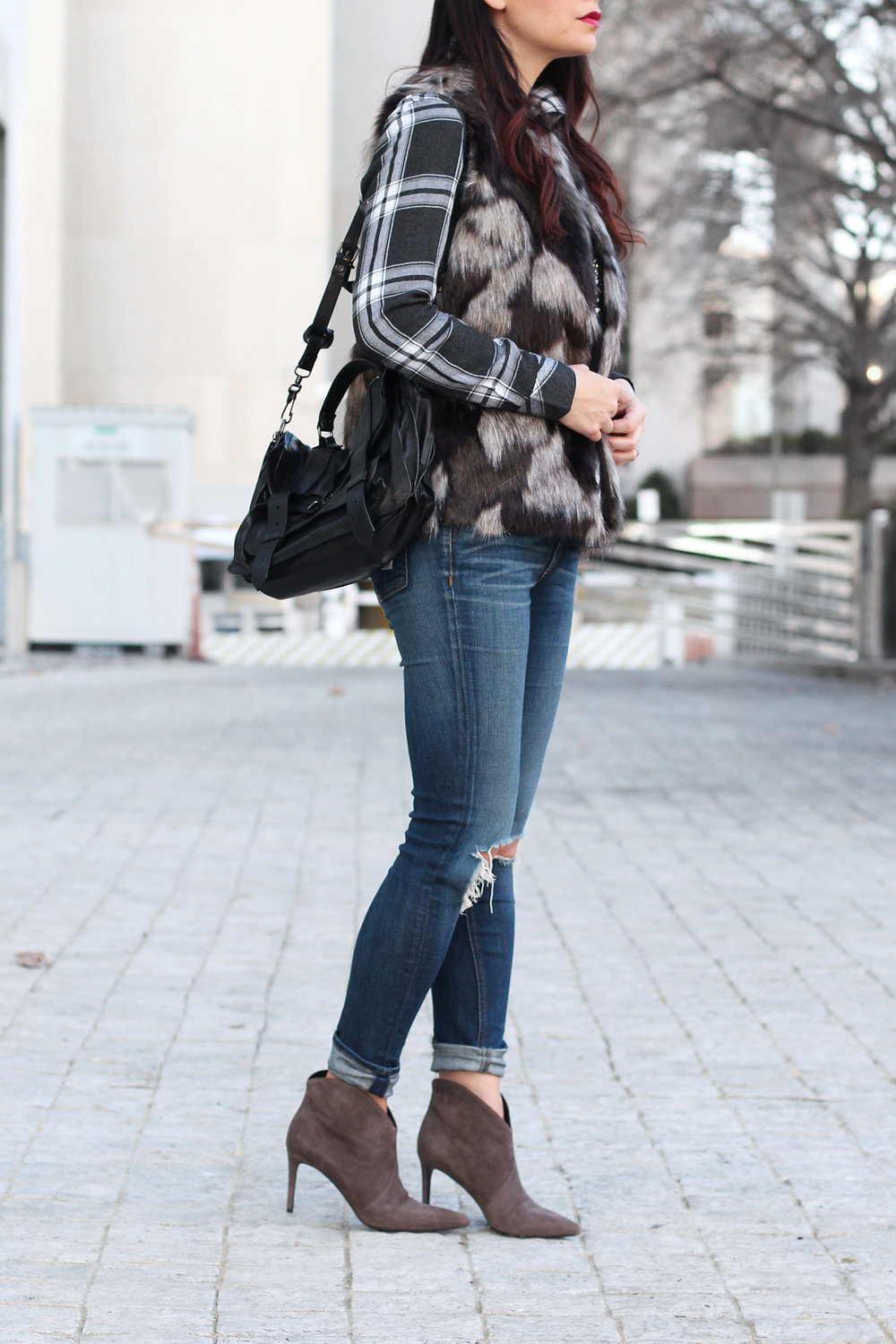 Fur Vest for Winter Outfit