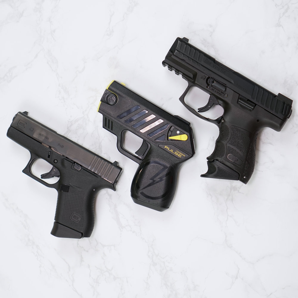 TASER Pulse Compared to Glock 43 and HKVP9SK